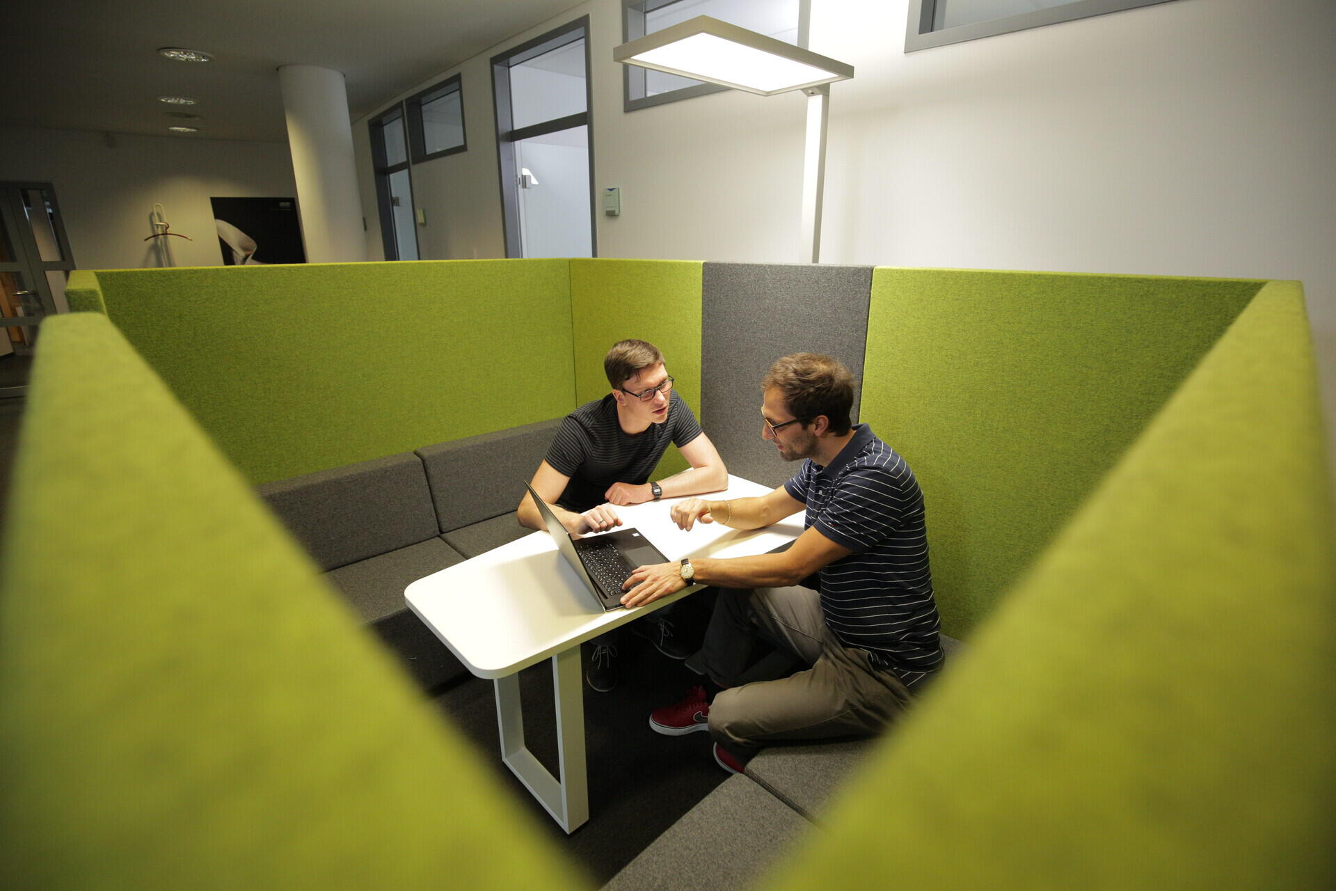 One-on-one meetings between software developers