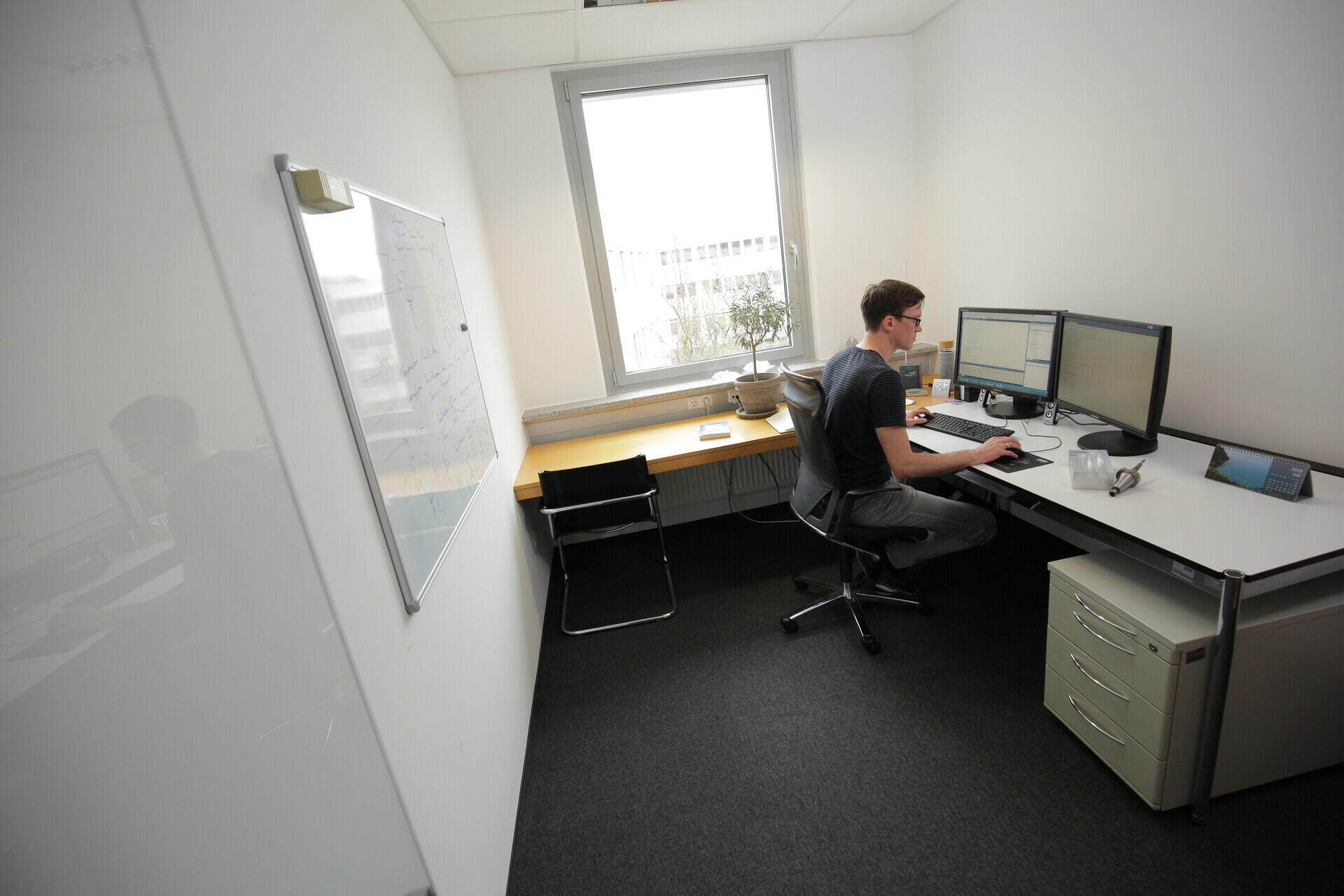 Software developer in a private office